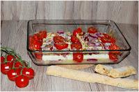 Feta mit Tomaten aus dem Ofen