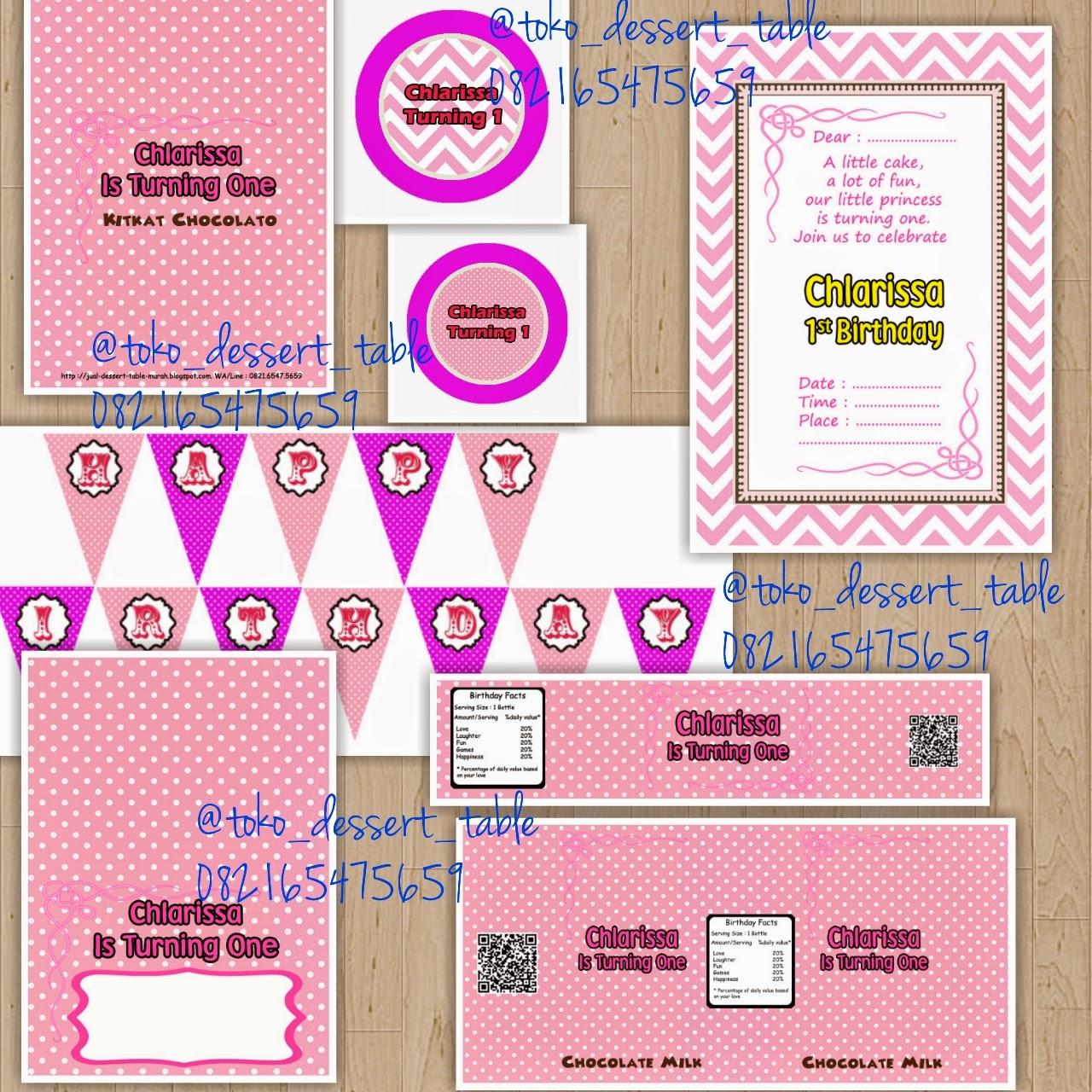 Toko Dessert Table Printable Part 2