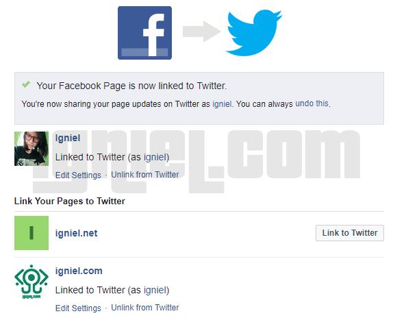 Cara Menyambungkan Status Facebook Fanspage Dengan Twitter