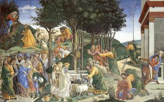By Sandro Botticelli Eventos da vida de Moisés