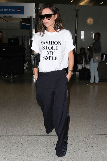 Fashion Stole My Smile t-shirt as worn by Posh Spice Victoria Beckham.  PYGOD.COM