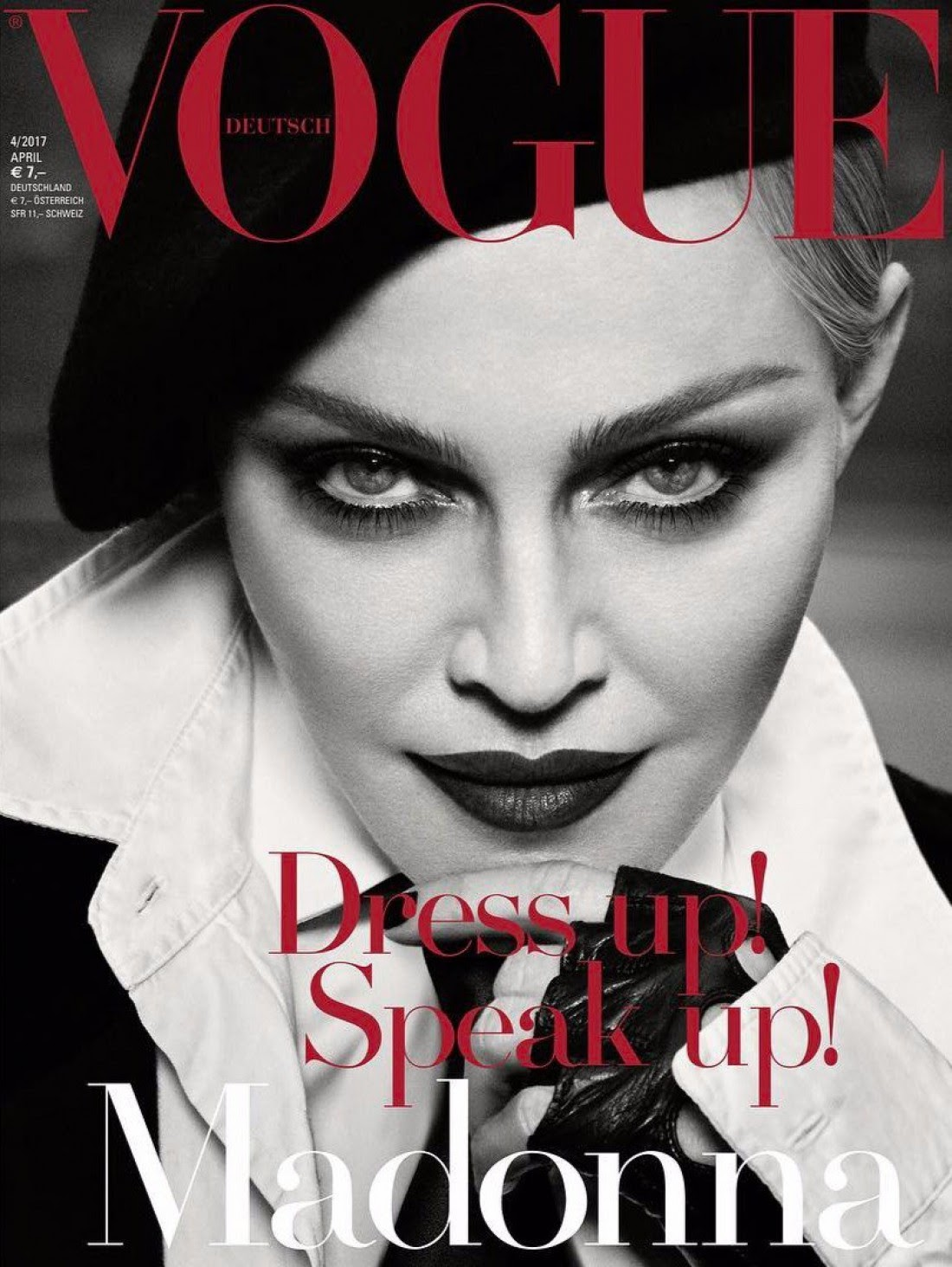 Madonna appeared of the German version of Vogue magazine