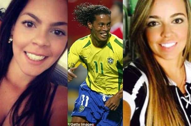 Photos: Brazilian legend Ronaldinho 'set to marry two girlfriends living with him in his Rio de Janeiro mansion'