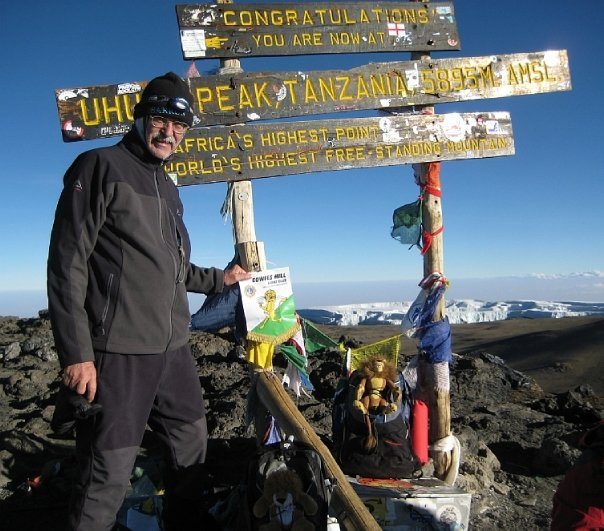 My dad summiting Mount Kilimanjaro at age 60