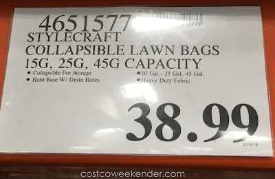 Deal for the Stylecraft Collapsible Pop-Up Lawn Bags at Costco