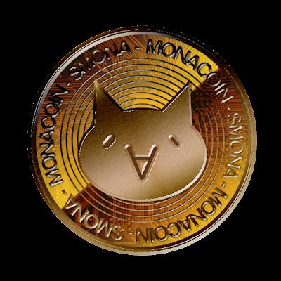 仮想通貨モナコイン(表面)のフリー素材(銅貨ver)