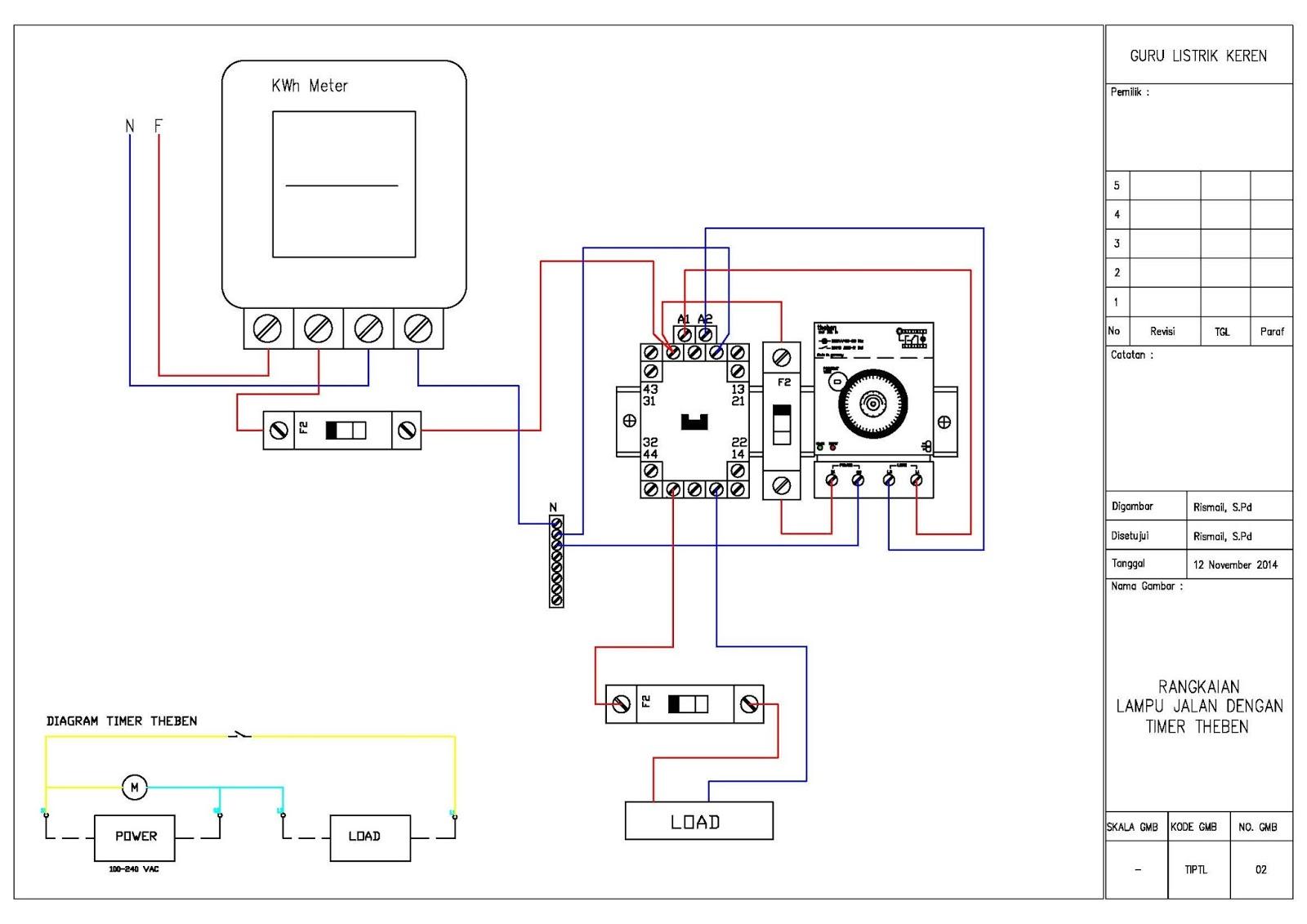 medium resolution of rangkaian timer theben guru listrik keren wiring diagram lampu dengan timer rangkaian theben untuk lampu