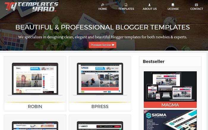 plantillas gratis para blogger templates Yard