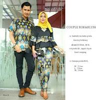 Batik Pasangan SBRG132 Couple Gamis Kebaya Modern hitam