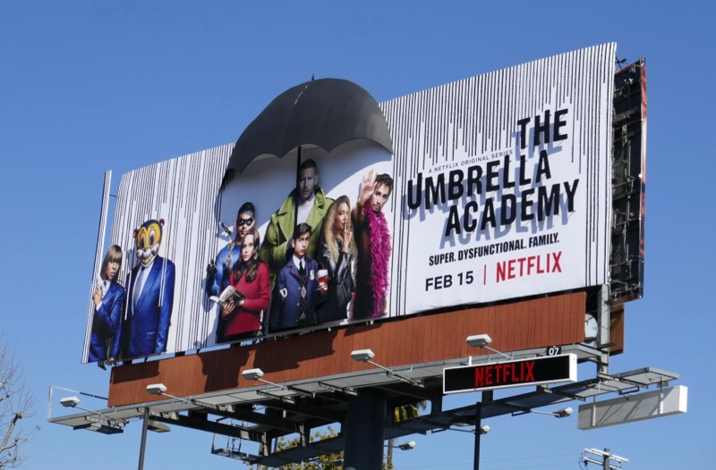Umbrella Academy 3D billboard