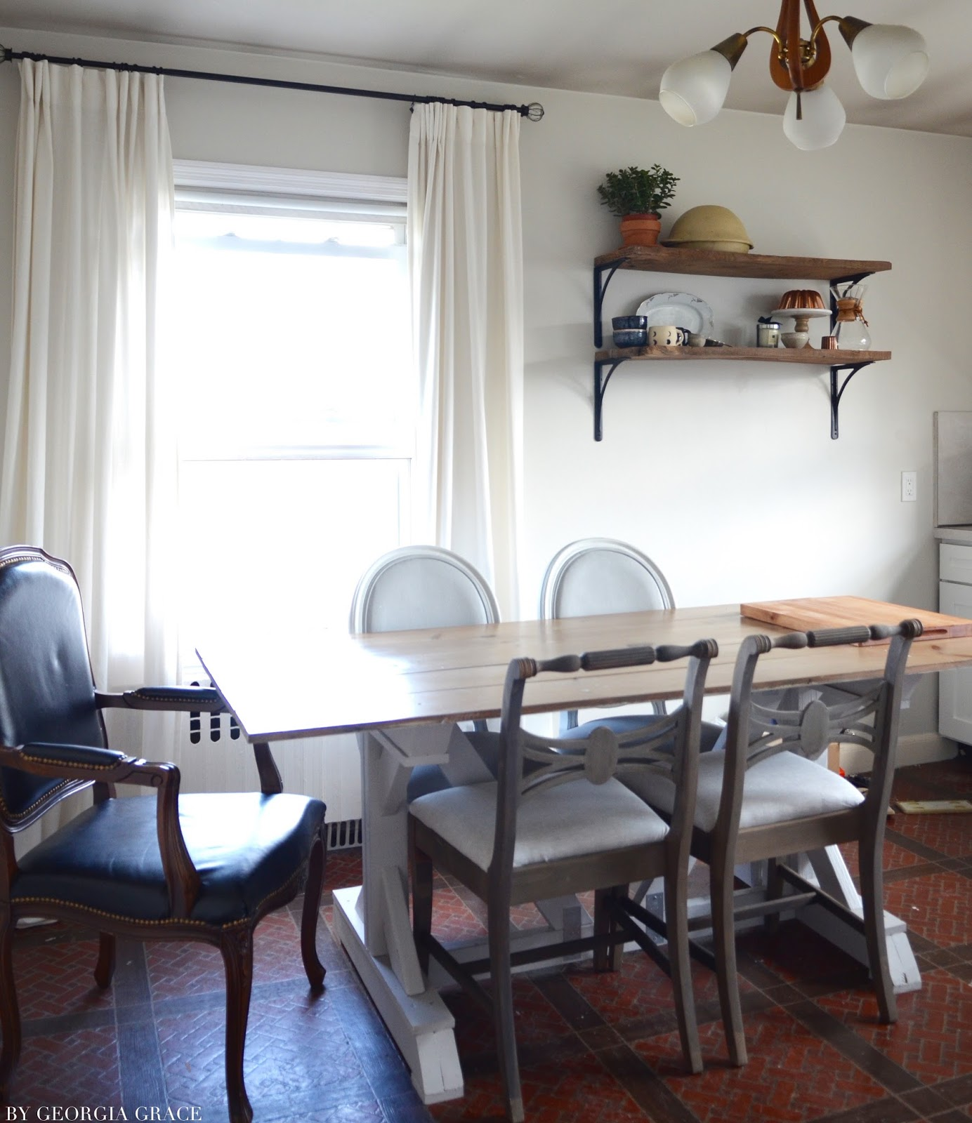Kitchen: New Shelves & Chairs | By Georgia Grace