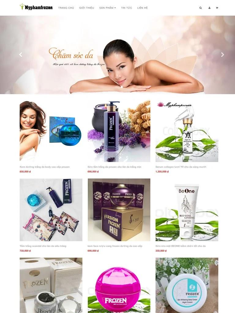 Templates blogspot bán hàng mỹ phẩm đơn giản chuẩn seo