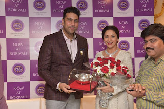 Actress Madhuri Dixit Pictures in Designer White Salwar Kameez at PNG Jewelers Launch  0008