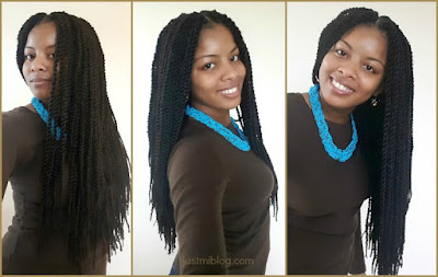 Crochet braids with pre-twisted senegalese twists