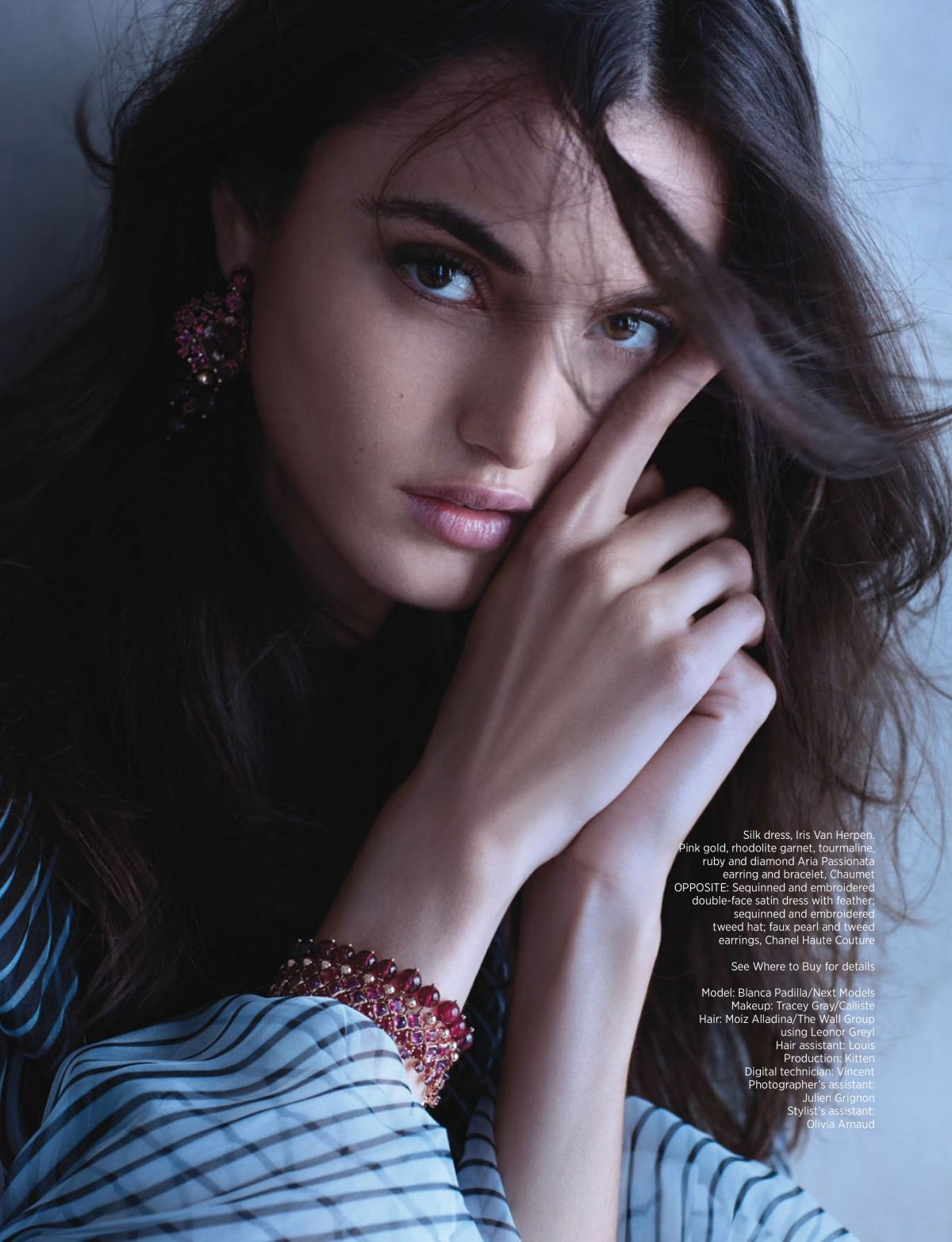 Blanca Padilla in Harper's Bazaar Magazine, Singapore December 2017 Issue