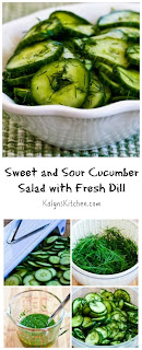 Sweet and Sour Cucumber Salad with Fresh Dill [from KalynsKitchen.com]