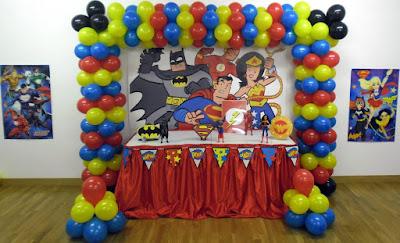 Decoração Festa Super-Heróis