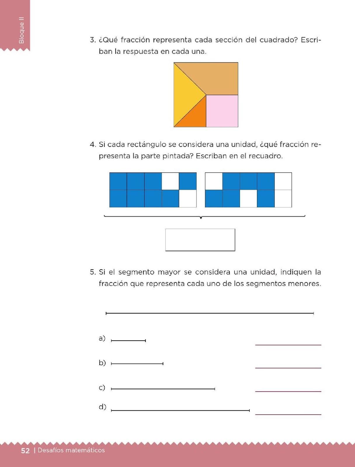Qué fracción es? - Bloque II - Lección 28 ~ Apoyo Primaria