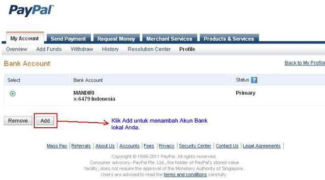 Cara mencairkan Paypal (Withdraw) ke Bank Lokal Indonesia 2