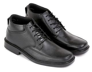 Sepatu kerja polisi handmade,sepatu kerja pria lapangan,gambar sepatu pdh bertali,sepatu pdh kulit asli hitam, sepatu kerja handmade cibaduyut