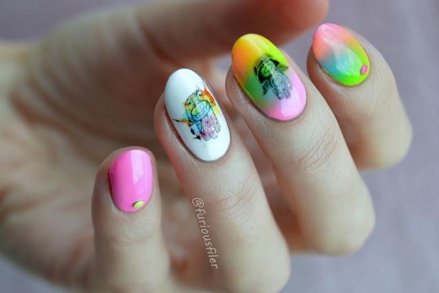orientalne paznokcie naklejki do paznokci ćwieki kolorowe