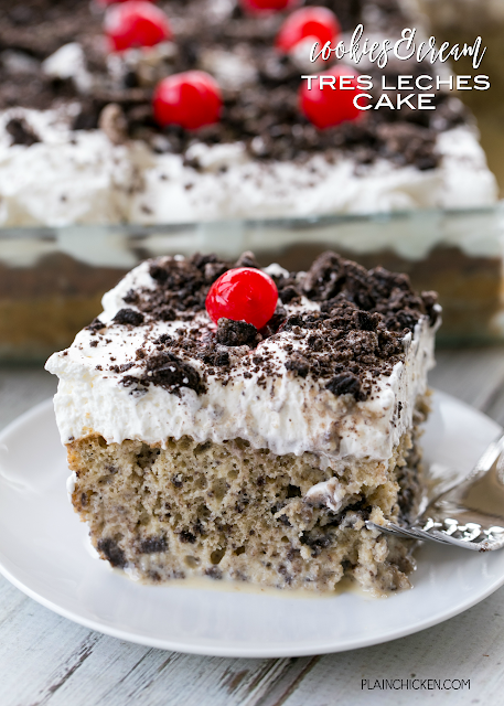 Cookies Cream Tres Leches Cake Plain Chicken