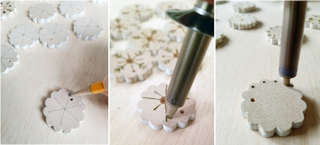 pencil, snowflakes, designs,