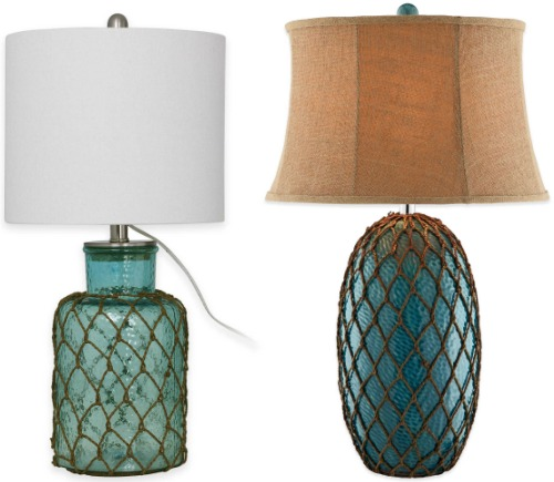 Blue net table lamps