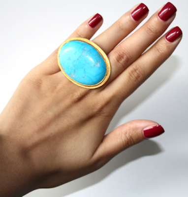 Mama Mia, colours, turquoise, turquoise statement ring