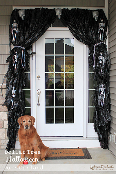 dollar tree Halloween decorating