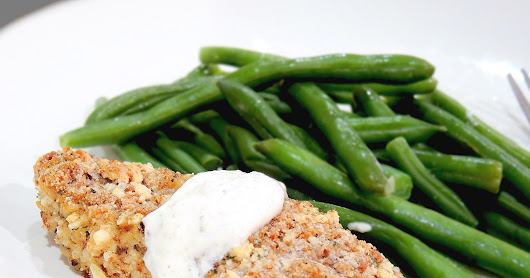 Skinny Baked Parmesan & Almond Crusted Chicken
