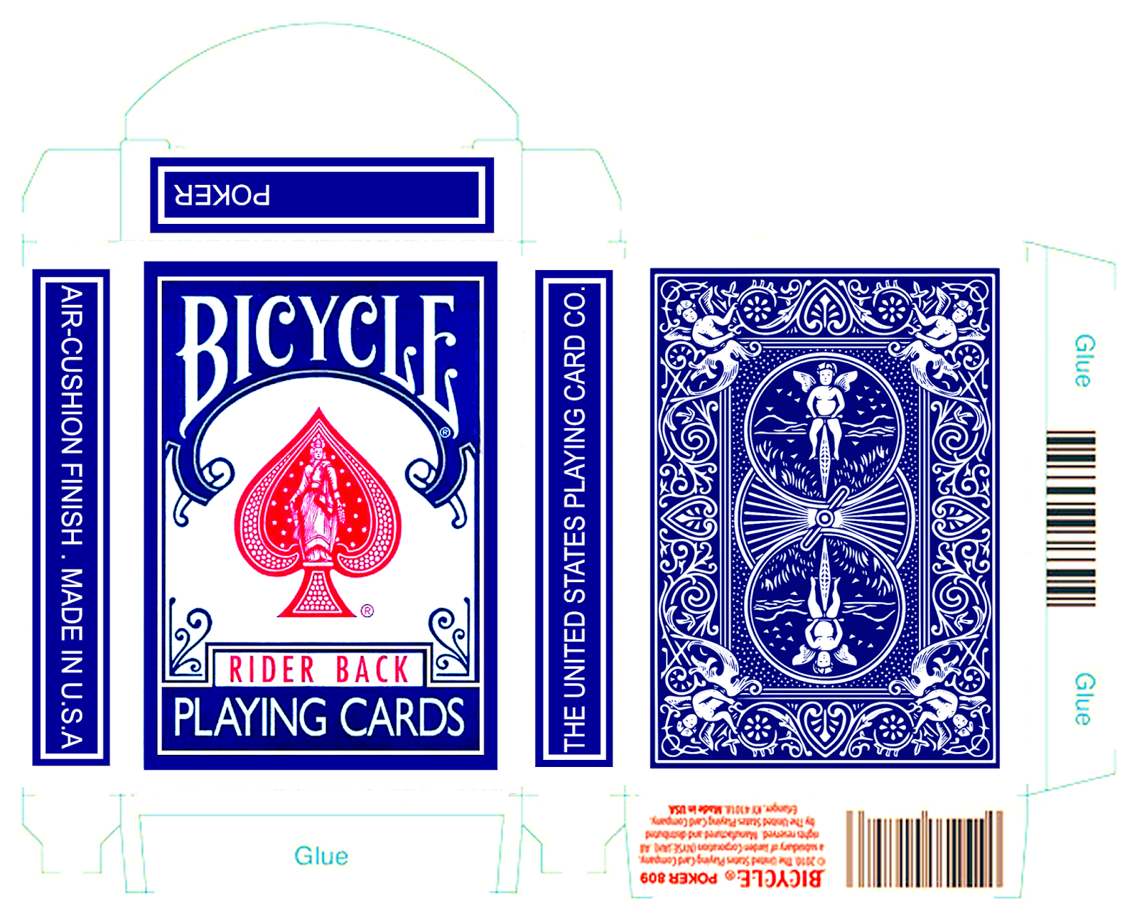 Bicycle Playing Card Box Template