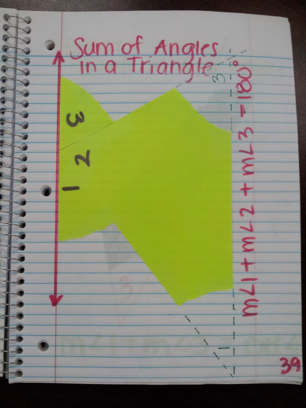 Math By Tori Triangles Unit Interior Angle Sum And