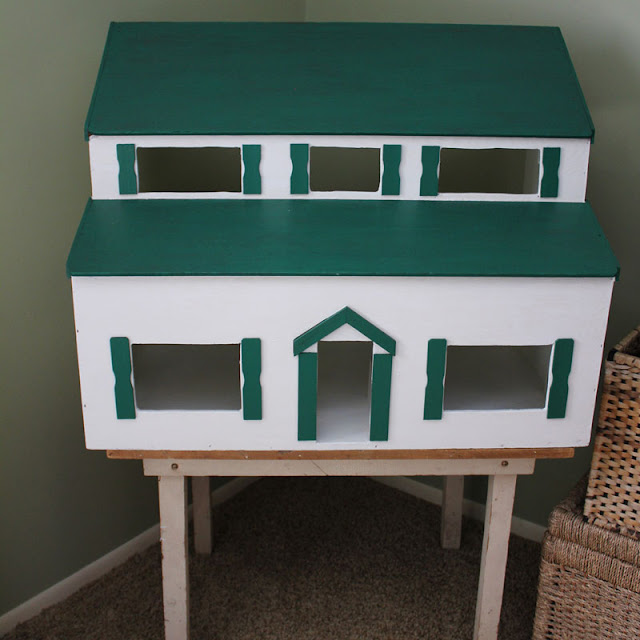 Thrift Store Vintage Dollhouse Makeover-Itsy Bits And Pieces