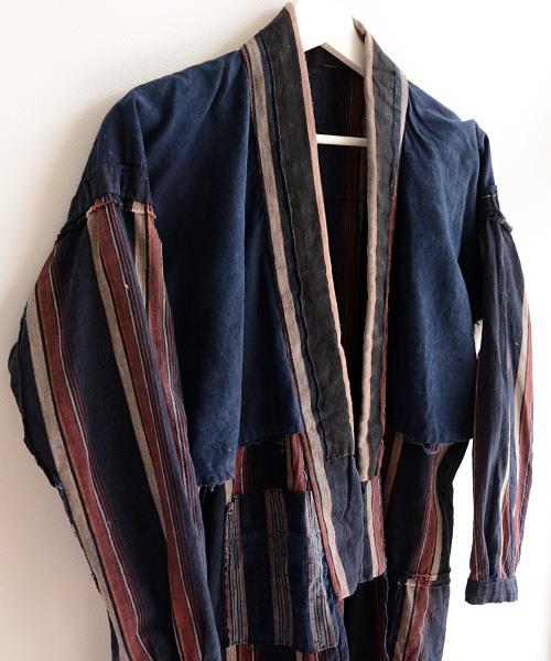 野良着 FUNS 通販 藍染 襤褸 縞 アンティーク着物 30~40年代 ジャパンヴィンテージ