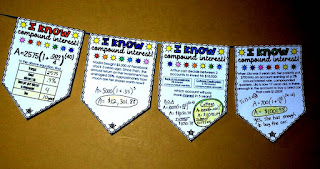 Compound Interest Math pennant