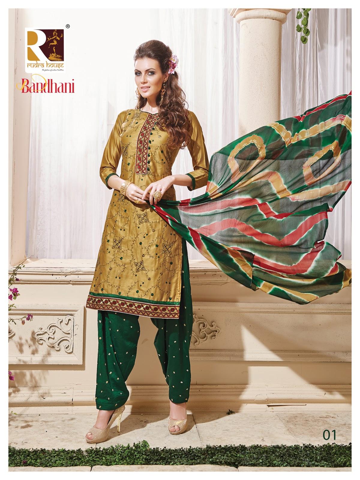 Bandhani – New Satin Cotton Bandhani Dress Material
