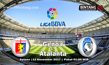 Prediksi Genoa vs Atalanta 12 Desember 2017