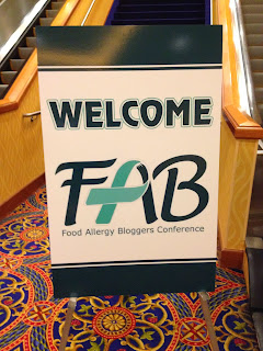 Food Allergy Bloggers Conference Sign