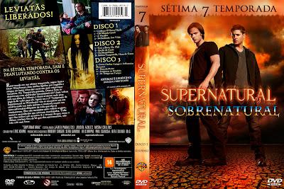 Seriado Sobrenatural 7º Temporada Completa DVD Capa