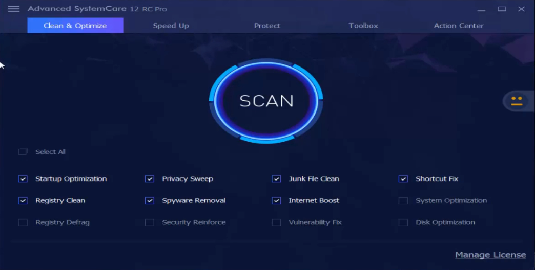 advanced systemcare 12 rc key