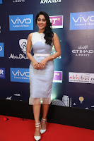 Actress Regina Candra Stills in Beautiful Sleeveless Blue Short Dress at SIIMA Short Film Awards 2017 .COM 0026.JPG