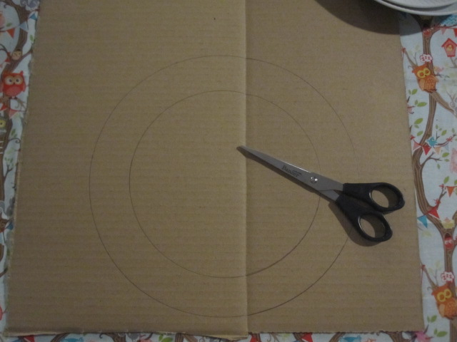 A circle drawn on card