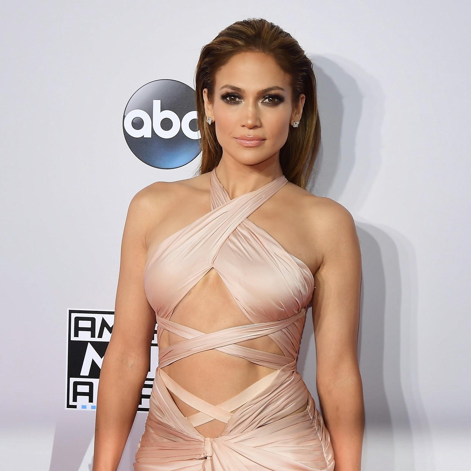 Jennifer Lopez no American Music Awards em Los Angeles, nos Estados Unidos