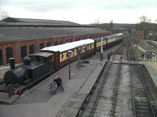antique steam train on bluebell railway sussex