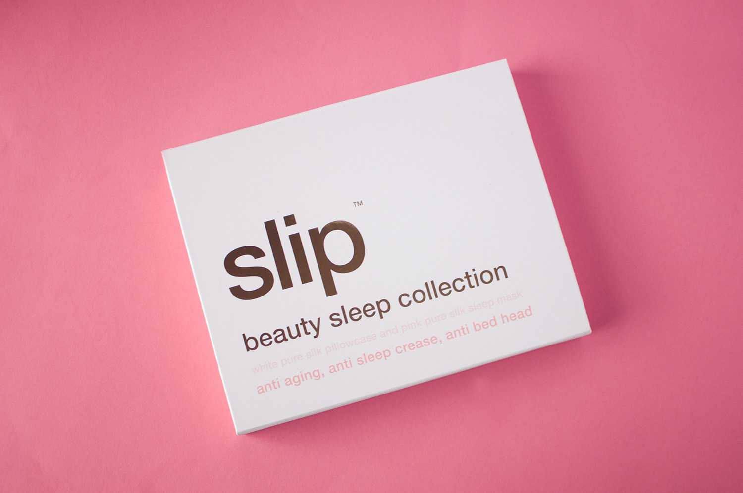 sleep beauty collection, slip silk review, slip silk gift set, slip gift set
