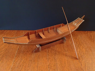 Model Thai market boat at Penobscot Marine Museum