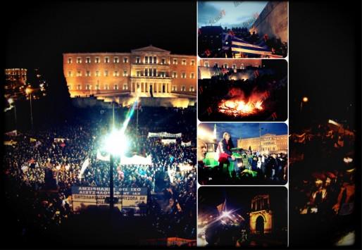 """Πρωτόγνωρα πράγματα στην """"καρδιά"""" της Αθήνας με περίπου 20.000 αγρότες!"""