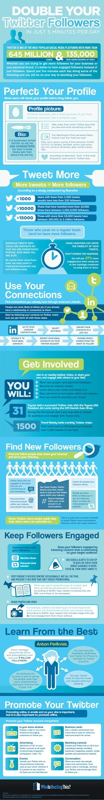 Double Your Twitter Followers Infographic