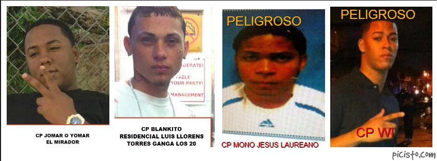 Integrantes de la Ganga de Omar Calma y la asociacion de narcos Las